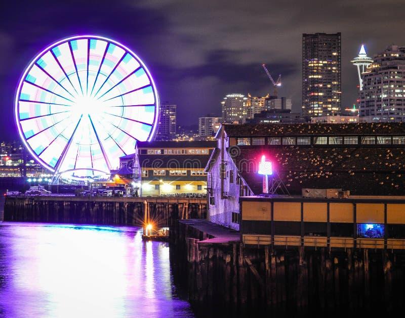 Колесо Сиэтл большое на пристани 57 стоковое фото