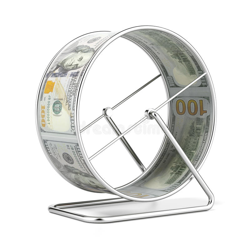 Колесо хомяка доллара бесплатная иллюстрация