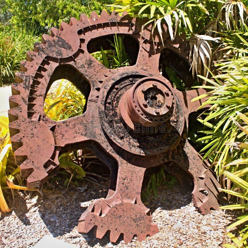 колесо cog старое стоковое изображение