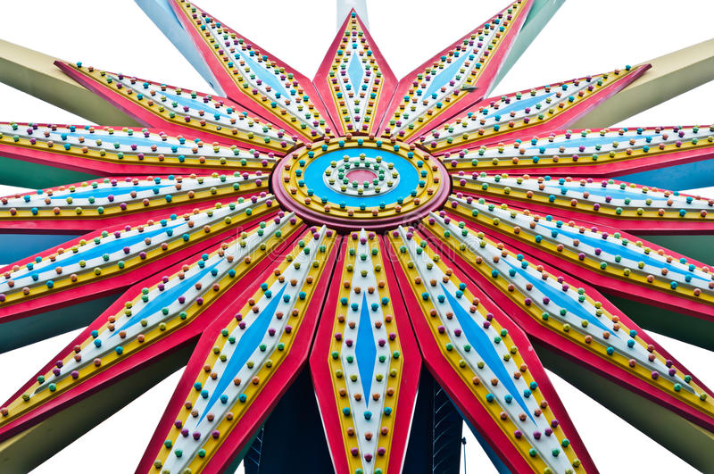 Колесо Ferris красочной предпосылки стоковое изображение