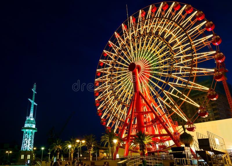 Колесо Ferris на порте Кобе стоковые изображения rf