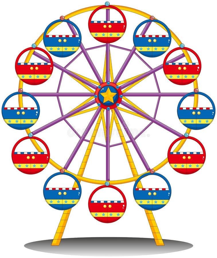 Колесо ferris иллюстрация вектора