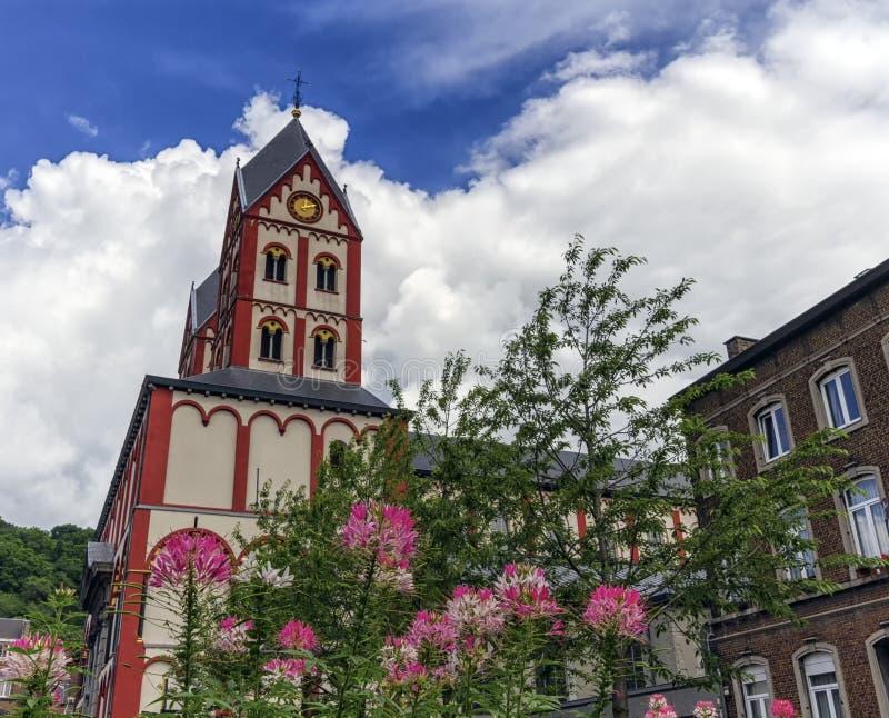 Коллигативная церковь St Bartholomew, Liege, Бельгии стоковое изображение rf
