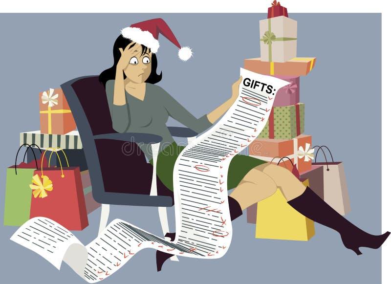 колоколы предпосылки чешут белизна красной покупкы кредита рождества изолированная праздником sparkly иллюстрация вектора