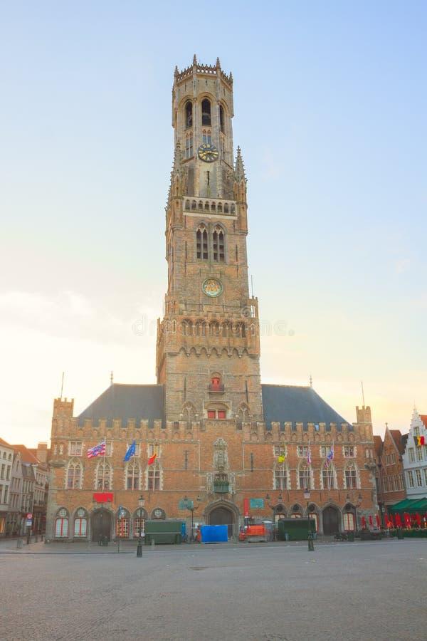 Колокольня Брюгге, Бельгии стоковая фотография