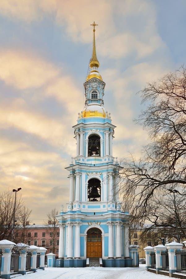 Колокольня собора St Nicholas военноморского стоковое изображение rf