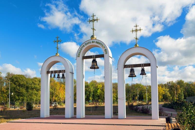 Колокольня собора St Nicholas Valuyki Россия стоковое изображение