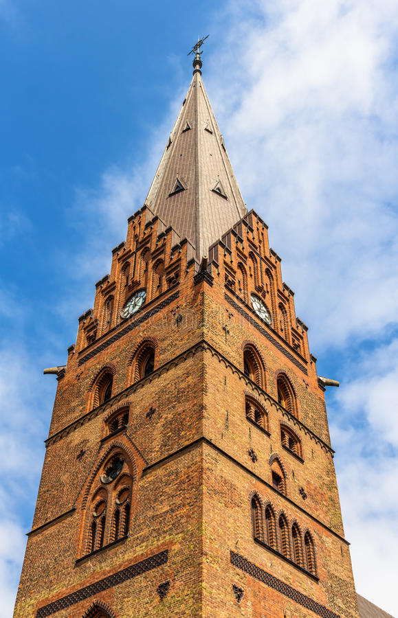 Колокольня собора St Petri в Malmo стоковые изображения