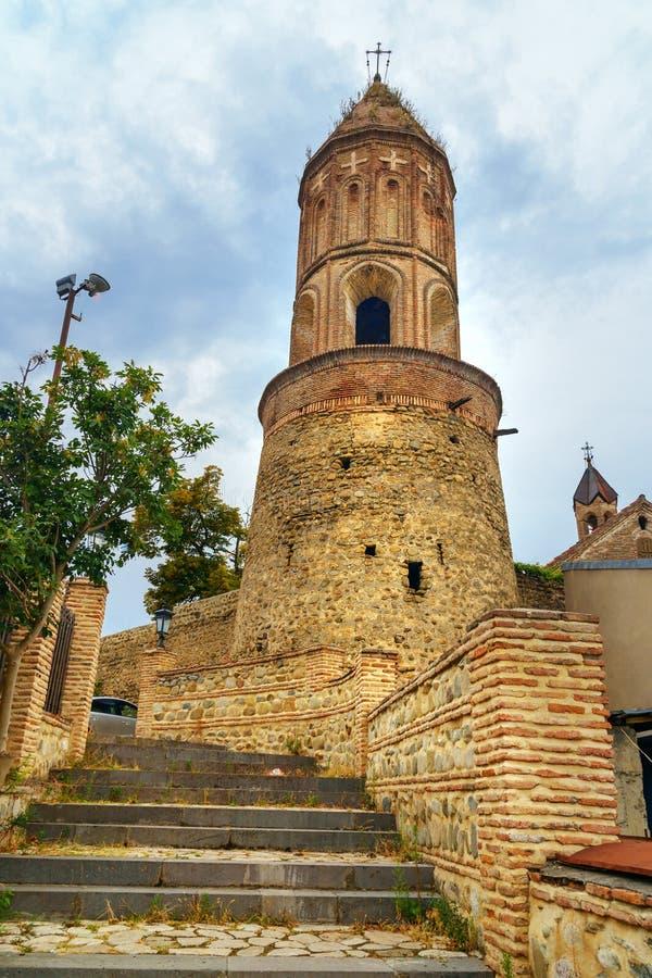 Колокольня церков ` s St. George в городе Sighnaghi Грузия стоковое фото rf