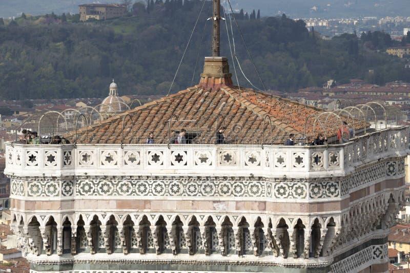 Колокольня Giotto с целью Duomo стоковая фотография rf