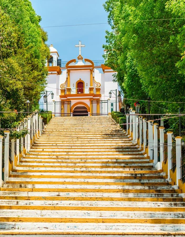Колониальная церковь Guadalupe в San Cristobal de Las Casas - Mexiko стоковое изображение rf