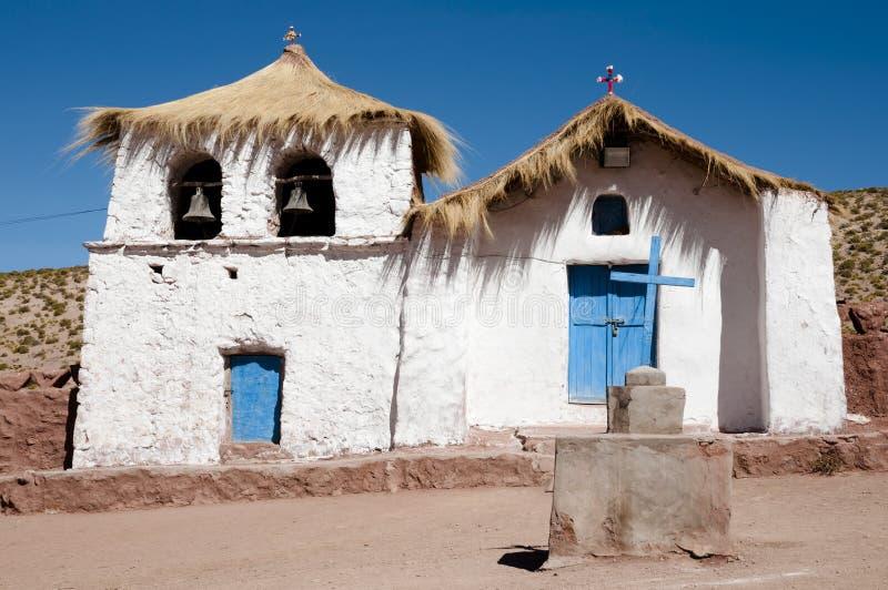 Колониальная церковь - Machuca - Чили стоковая фотография