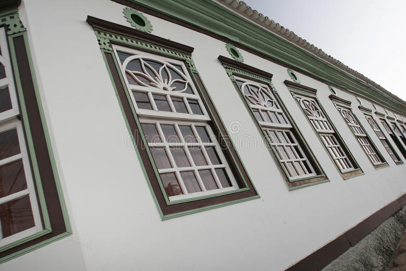 Колониальный городок в Бразилии стоковая фотография