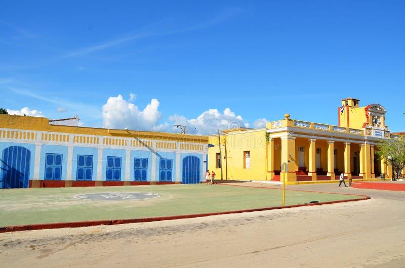Колониальный Тринидад, мэр площади, Куба стоковые фото