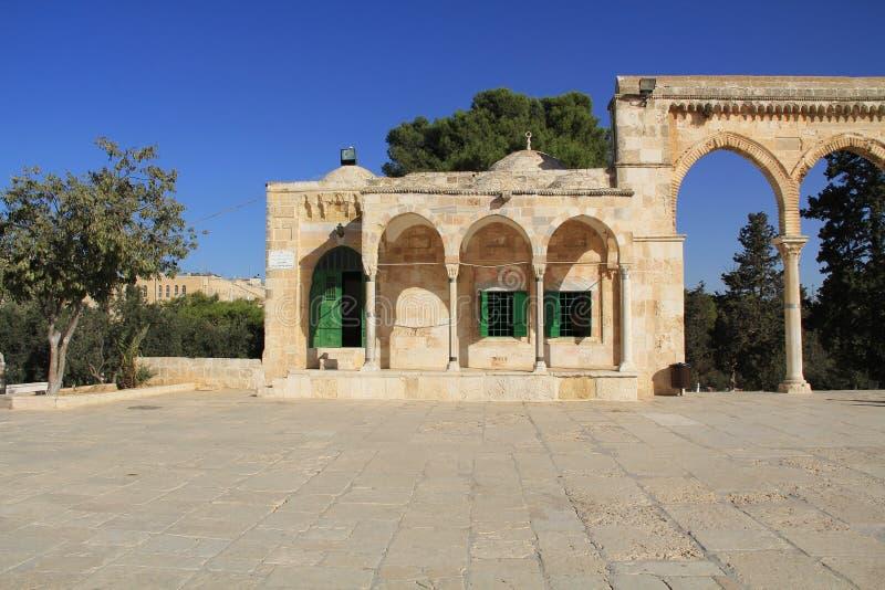 Колоннада вдоль квадрата на Temple Mount стоковое фото