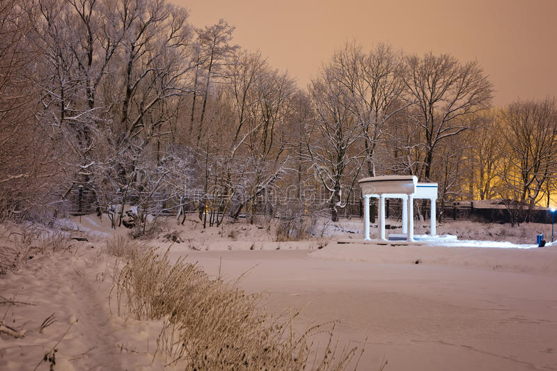 Колоннада в парке Yunost стоковые фото