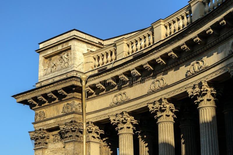 Колоннада собора Казани стоковые фото
