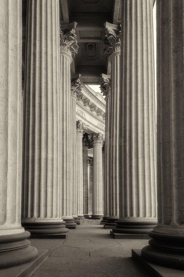 Колоннада собора Казани стоковое фото rf