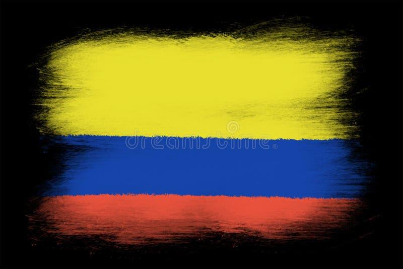 Колумбийский флаг иллюстрация вектора