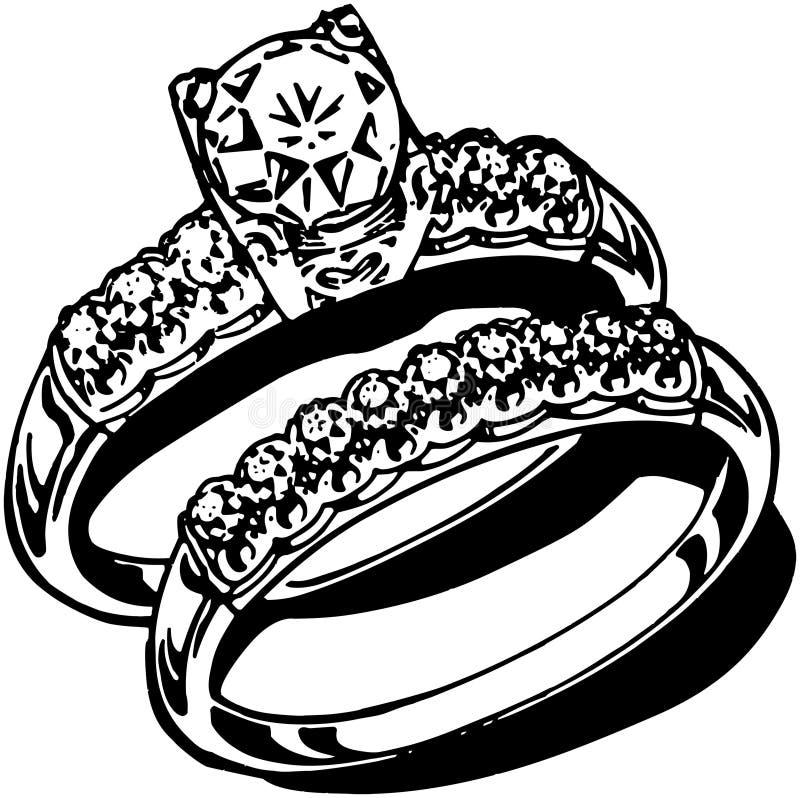 кольца предпосылки яркие wedding белизна иллюстрация штока