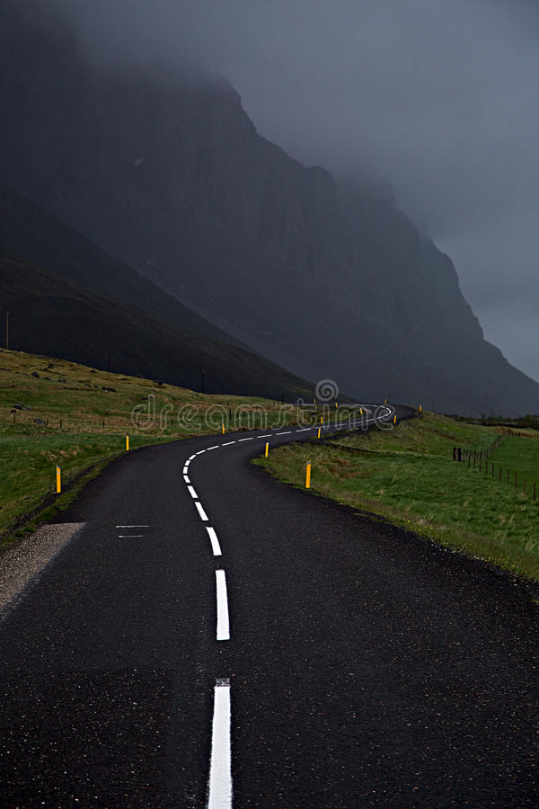 Кольцевая дорога Исландии стоковое изображение