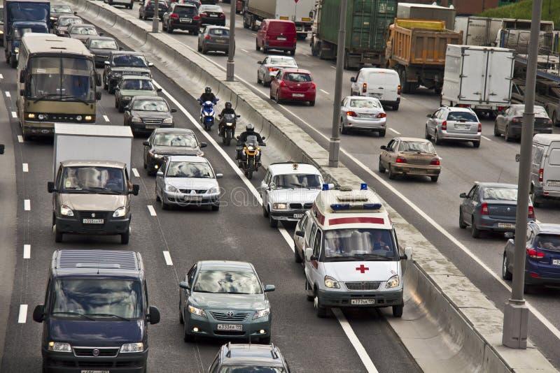 Кольцевая дорога Москвы стоковое фото rf
