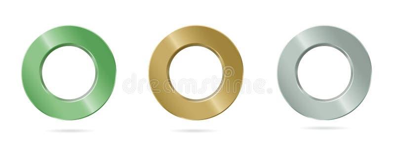 Кольцо металла с ровной отделкой лоска стоковые изображения