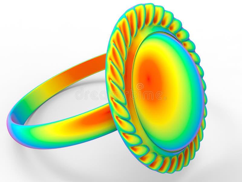 Кольцо радуги иллюстрация штока