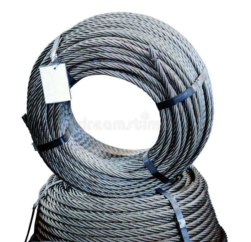 Кольцо стального кабеля груза металла стоковые изображения