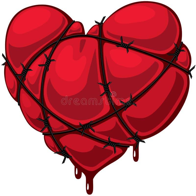 колючий провод сердца бесплатная иллюстрация