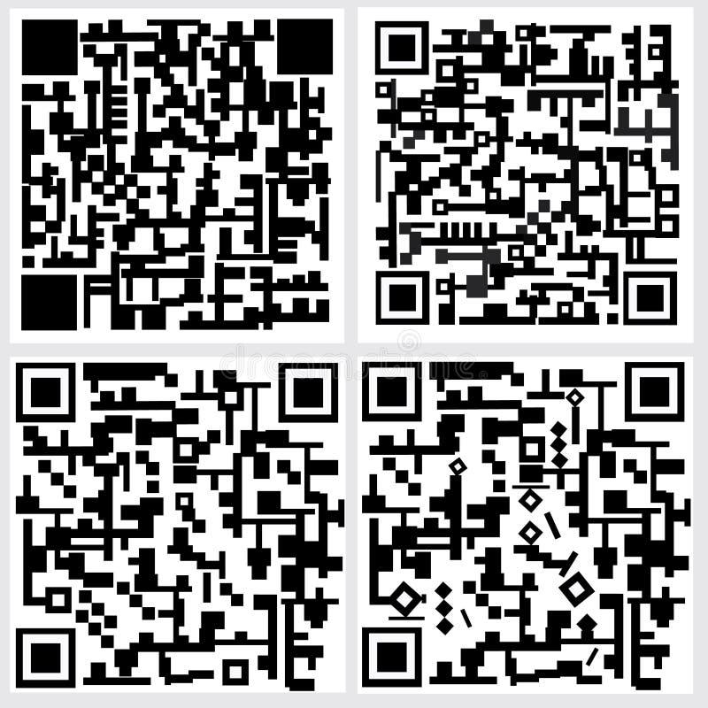 Код Qr иллюстрация вектора