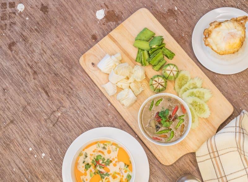 Краб в супе кокоса или тушёном мясе краба стоковые изображения