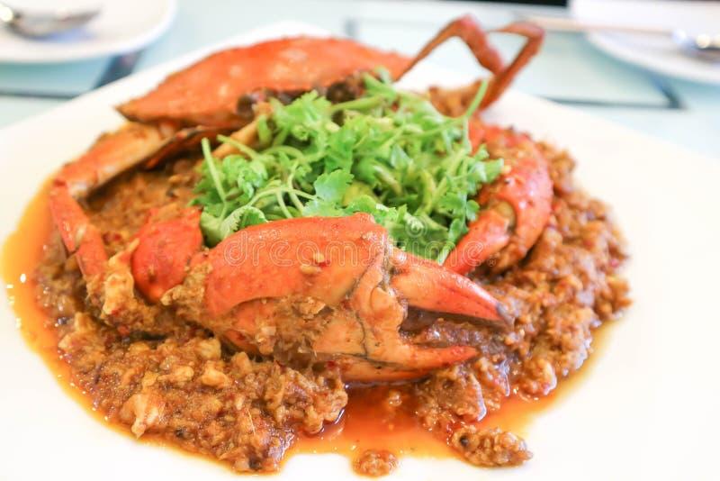 Краб чилей или еда Сингапура стоковые изображения