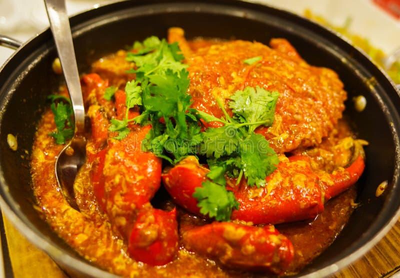 Краб чилей - самая известная еда в Сингапуре стоковые фото