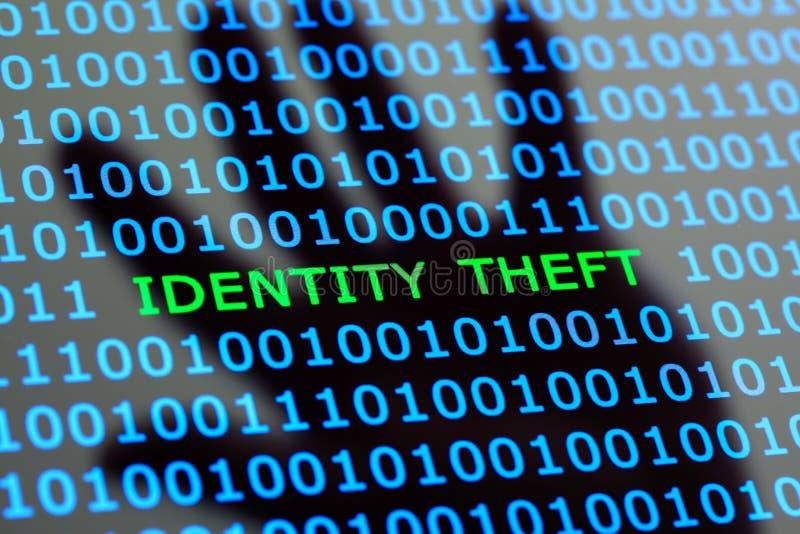 Кража личных данных онлайн стоковые изображения rf
