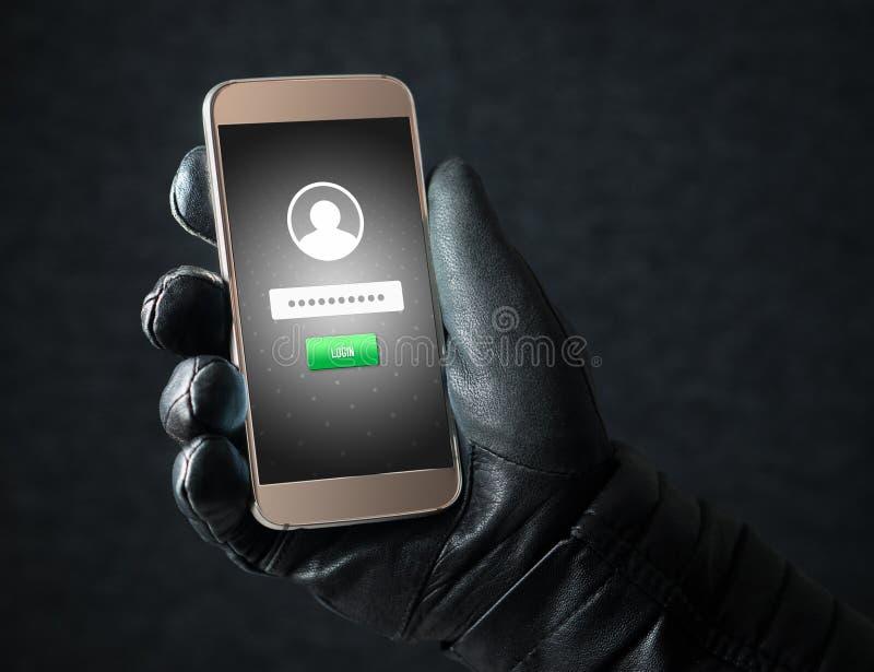 Кража личных данных и концепция безопасностью кибер стоковые изображения