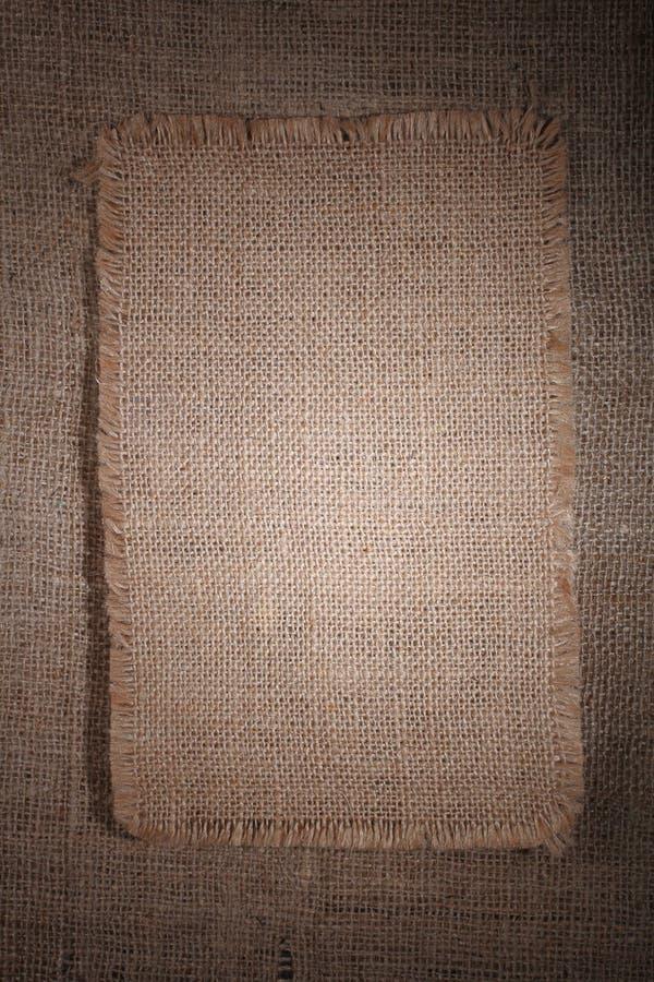 край мешковины детализированный холстиной lacerate очень стоковое фото
