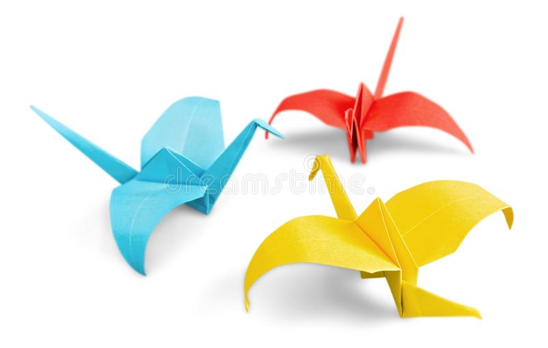 Краны китайской бумаги изолированные на белой предпосылке стоковое изображение