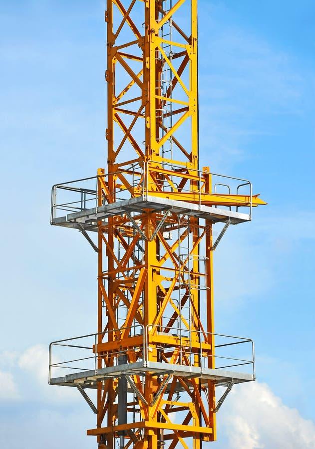 Кран башни конструкции стоковые изображения