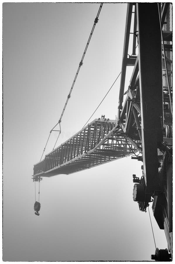 Кран в тумане стоковая фотография rf