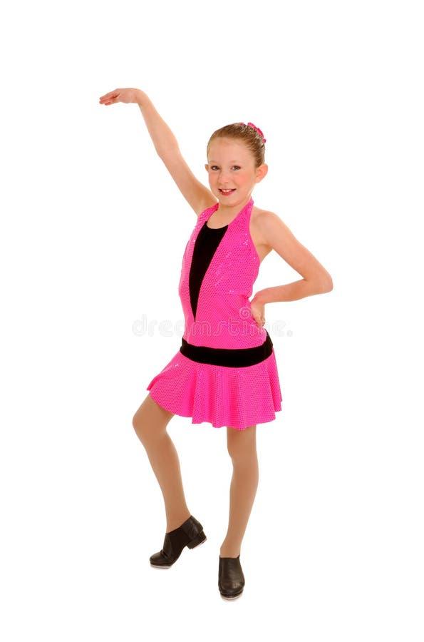 кран девушки танцы счастливый стоковые фото