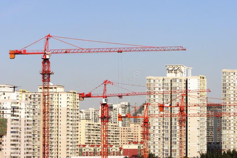 кран зданий стоковое изображение