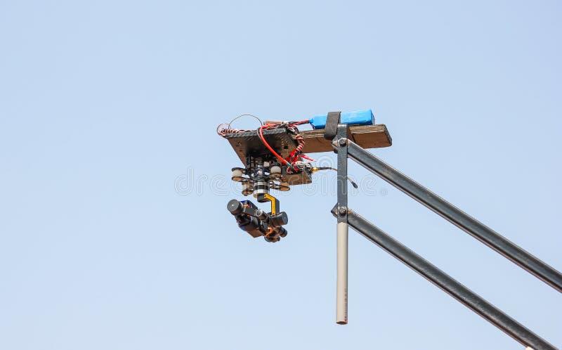Кран камеры в действии стоковые изображения rf