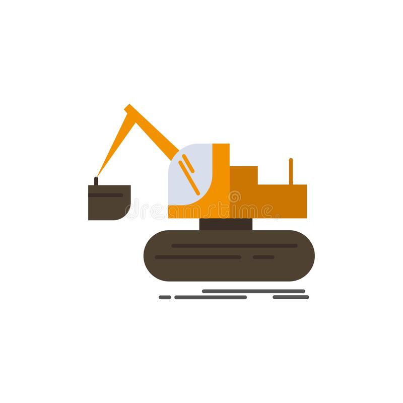 Кран, конструкция, подъем, значок цвета тележки плоский Шаблон знамени значка вектора бесплатная иллюстрация