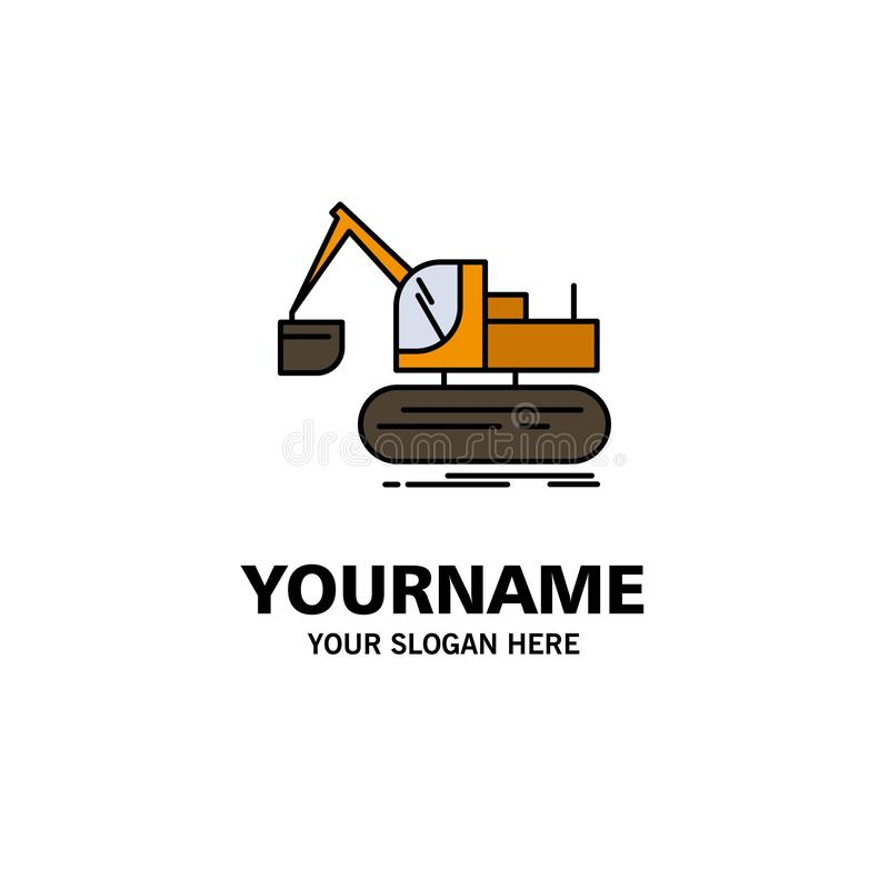 Кран, конструкция, подъем, шаблон логотипа дела тележки r иллюстрация штока