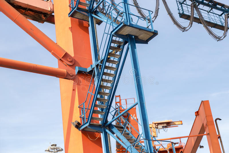 Кран морского порта стоковая фотография rf