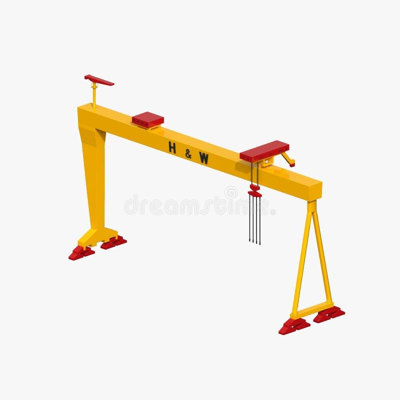 Кран на козлах Harland & Wolff бесплатная иллюстрация