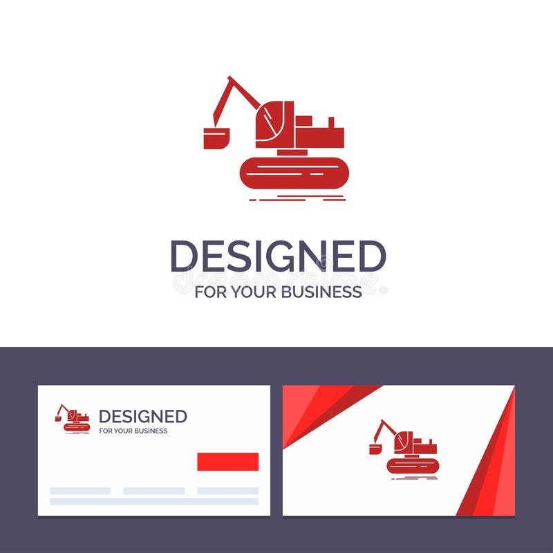 Кран творческого шаблона визитной карточки и логотипа, конструкция, подъем, иллюстрация вектора тележки бесплатная иллюстрация
