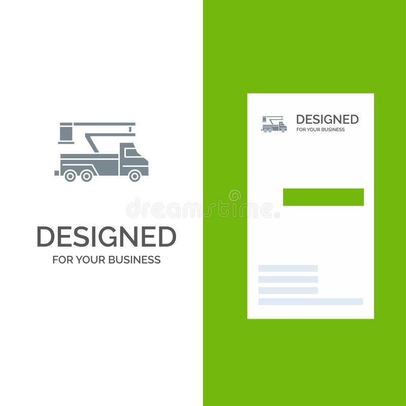 Кран, тележка, подъем, подниматься, дизайн логотипа перехода серые и шаблон визитной карточки бесплатная иллюстрация