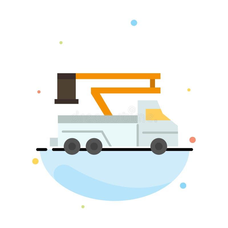 Кран, тележка, подъем, поднимаясь, шаблон значка цвета конспекта перехода плоский бесплатная иллюстрация